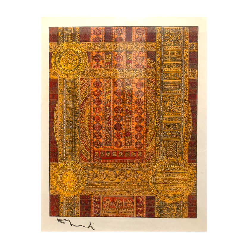 Charles Hossein Zenderoudi/کامبیز درم بخش/استودیو تهران/Tehran Studio/tehran gallery/نقاشی/هنر/حسین زنده رودی